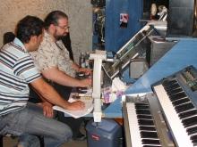 Με τον Κώστα Αλμπάνη στο στούντιο